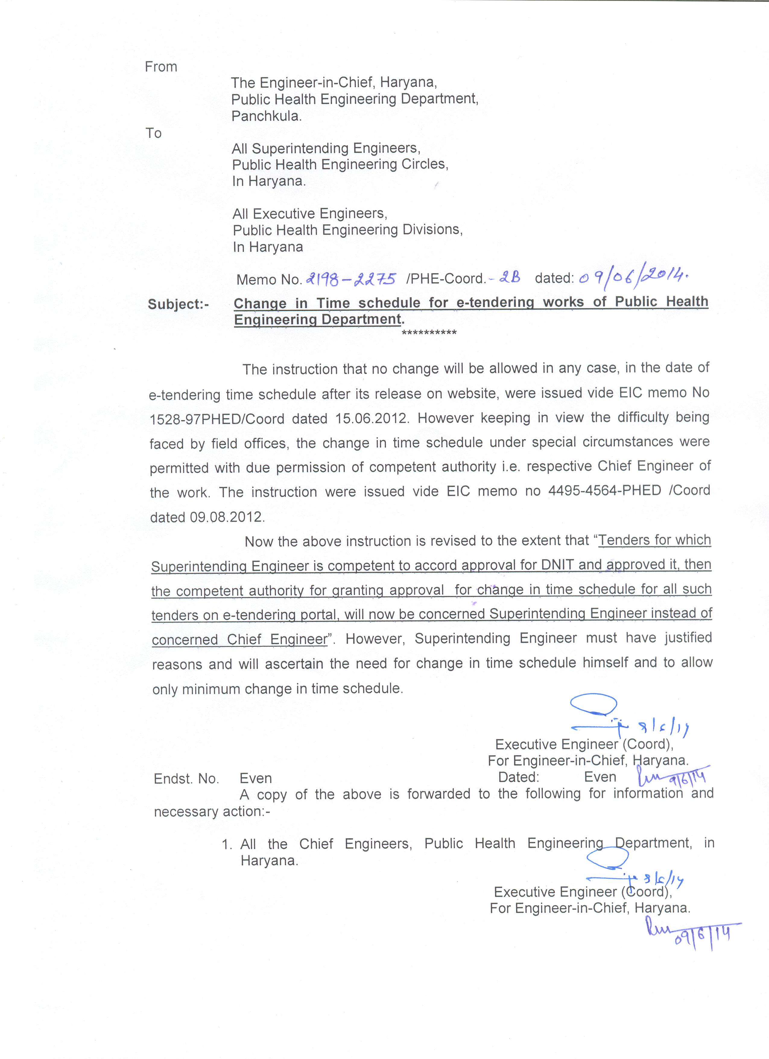 Public health engineering department haryana change in time schedule in e tendering works of public health engg deptt spiritdancerdesigns Image collections